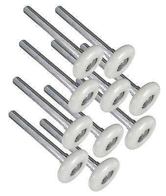 (Ideal Security SK7123 Premium Garage Door Rollers, 2 inch Nylon  Steel Wheels,)