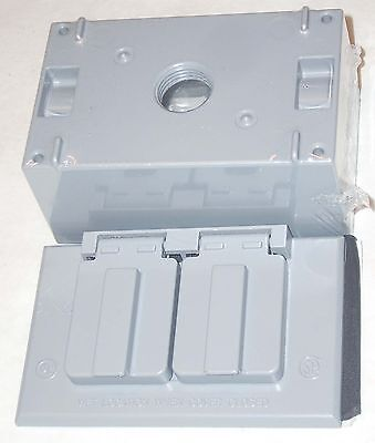 Ace 36290 36282 Electrical Outlet Box Cover All Weather Horizontal Duplex