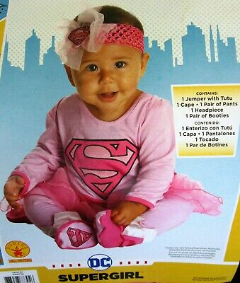 DC Comics Baby SUPERGIRL Costume New w/Tag * CUTE PHOTOS * Size 6 - 12 Months