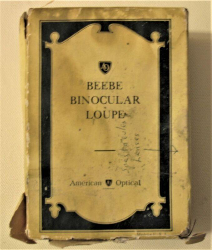 BEEBE BINOCULAR LOUPE, AMERI CAN OPTICAL in original box,Vintage Rare, Old