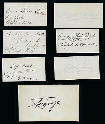 7 19th / 20th Century Musician and Opera Singer Autographs
