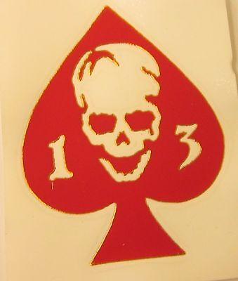 Ace Of Spades 13 Skull  3  X 3 75   Vinyl Decal Sticker  Made In The Usa