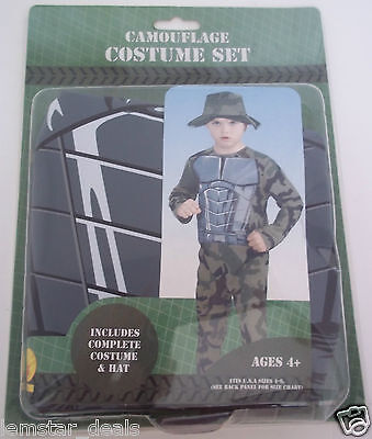Rubie's New CAMOUFLAGE COSTUME SET Halloween Dress Up Size 4-6  Easy To Wear ](Halloween Costumes To Wear)