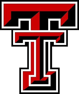 Texas Tech TTU NCAA Red Raiders Color Vinyl Decal  - You Choose Size 2