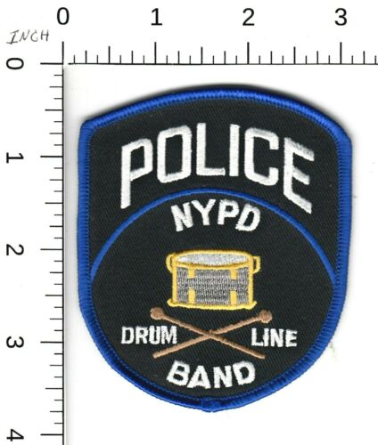 NEW YORK POLICE > BAND DRUM LINE < PATCH NY NYPD