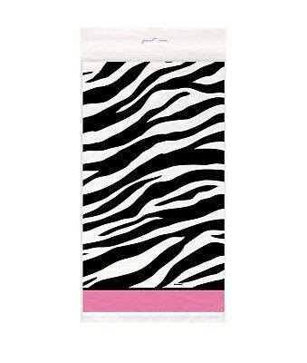 ZEBRA PASSION Birthday Party Supplies Plastic TABLECOVER 54 X 84 Baby Shower