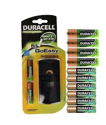 Duracell GoEasy Charger with 6 AA and 6 AAA Rechargeable Batteries, used for sale  Shipping to India