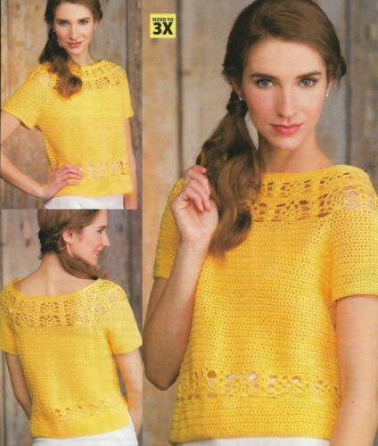 PINEAPPLE LACE PULLOVER SWEATER 5 SIZES WOMEN