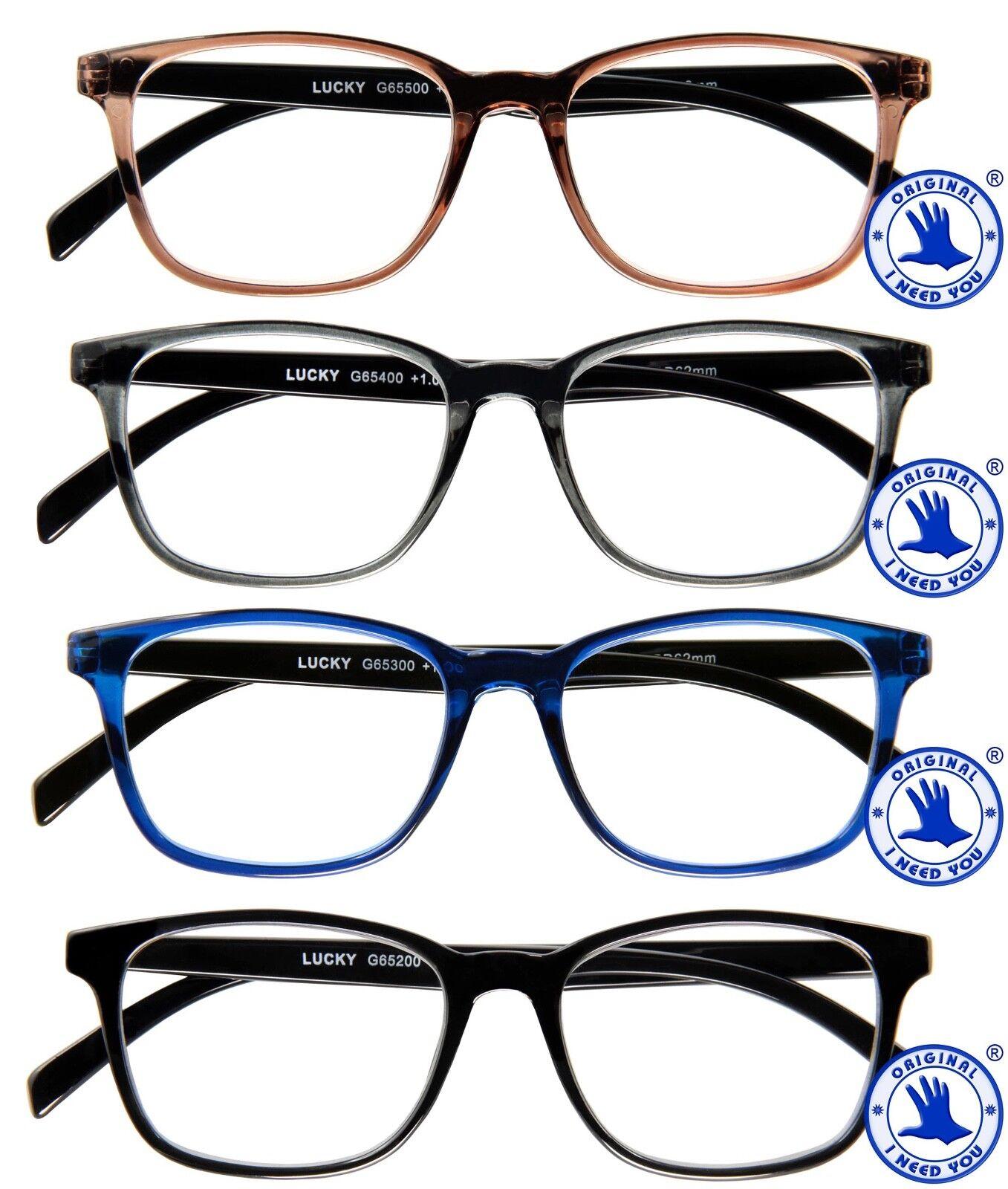 Damen Lesebrille Lucky Brille aus Kunststoff leichte Lesehilfe +1,0 bis +3,0