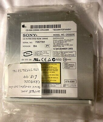 Apple Sony Combo CD-RW DVD CRX82 Drive 678-0451 Combo Mac iMac IDE Genuine