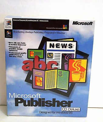 Microsoft Publisher For Windows 95 Cd Deluxe