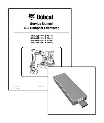 Bobcat 435 Compact Excavator Workshop Service Manual On New Usb Stick