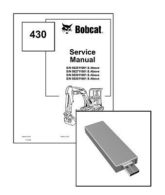 Bobcat 430 Compact Excavator Workshop Service Manual On New Usb Stick
