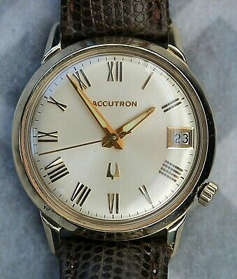 Vintage 1970 Bulova Accutron Date Tuning Fork Watch