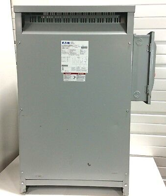 Tested Eaton V48m51t12ee 112.5 112.5kva Transformer 480v To 240v 3 Phase 60hz