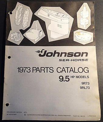 1973 JOHNSON SEA-HORSE OUTBOARD 9.5 HP PARTS MANUAL  P/N 386132  (407)