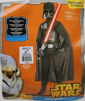 Darth Vader Halloween Costume (Halloween Star Wars Boys Darth Vader Child Costume Size Small 4-6 Ages 3-4)