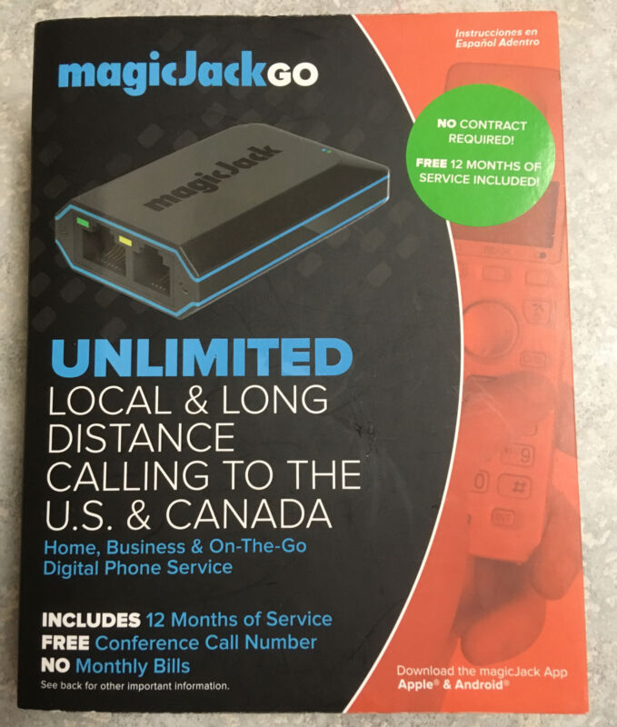 NEW MagicJack Go (K1103) Digital Phone Service Unlimited Local & Long Distance