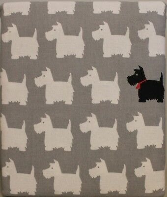 Flannel Queen Scotty Dogs Sheet Set 4pc English Cottage Terriers Vellux Modern