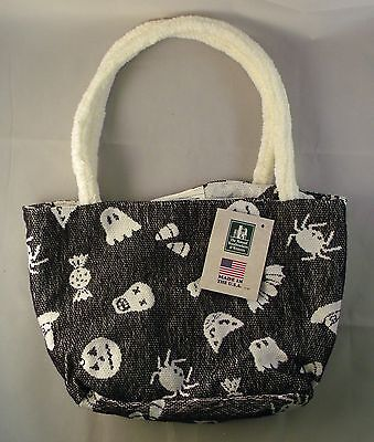 Halloween Reversible Black and White Tote Bag - Great for Trick or Treating - Reverse Trick Or Treating Halloween