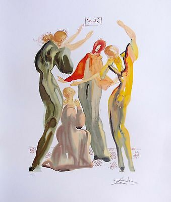 Salvador Dali THE DANCE Signed Numbered Lithograph Art