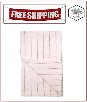 Restaurant Towels - Whitered Stripe - 12 Pk.