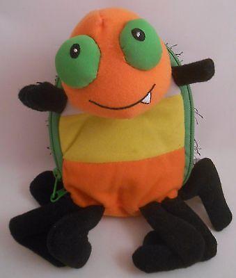 Hallmark 2011 Halloween Love Bug Em Spider Plush EUC Notes Goodies Zipper Pouch](Spider Sack Halloween)