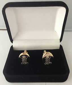 ROYAL-REGIMENT-OF-SCOTLAND-CREST-CUFFLINKS-BRAND-NEW-IN-VELVET-BOX