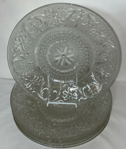 "6 Indiana SANDWICH CRYSTAL *10 1/2"" DINNER PLATES*"