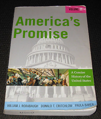 America's Promise: America's Promise : A Concise History of the USA Vol. 2