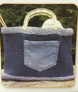 Knitted Jeanious Tote Bag Easy Knitting Pattern