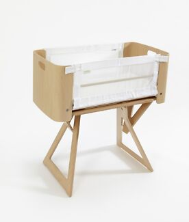 Bednest Bedside Co Sleeper Baby Bassinet & Stand with mattress