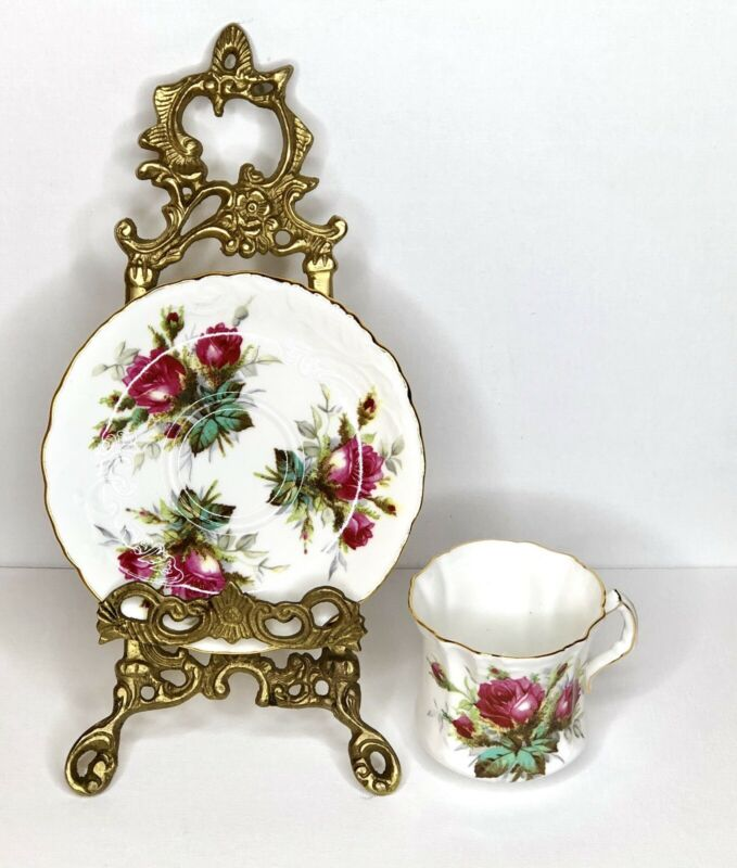 "VTG Hammersley ""Grandmother's Rose"" Bone China Teacup & Saucer Set - England"