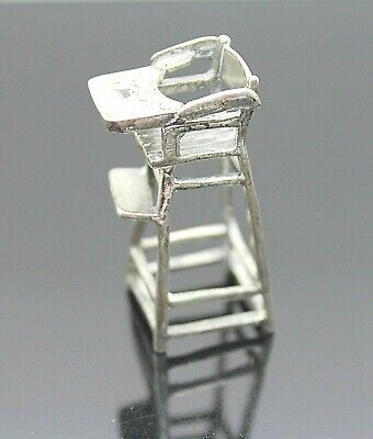 Used, VINTAGE FIGURINE 3D CHILDREN'S CHAIR WITH FOLDING TABLE STERLING SILVER for sale  Shipping to United Kingdom