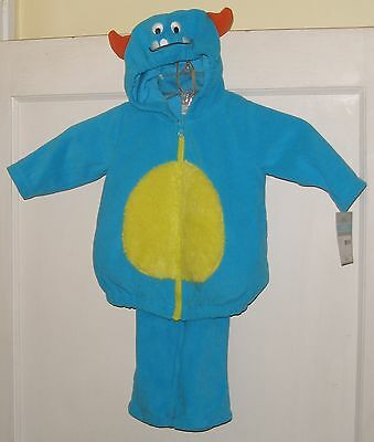 NWT Carter's Fleece Blue Little Monster 2 Pc Set Halloween Costume 3 - 6 Month