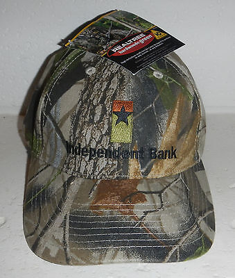 Nwt Independent Bank Company Logo Realtree Camo Camouflage Baseball Hat Cap