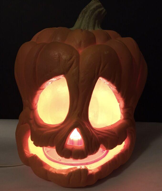 VTG 1995 Trendmasters Foam Blow Mold Lighted Pumpkin Jack O Lantern Spooky RARE