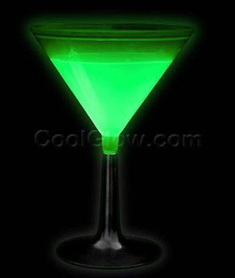 GLOW  MARTINI GLASS- RAVE, PARTY, NITECLUB GLOW CUP - GLOW STICK LIGHT UP CUP -  (Glow Martini Glasses)