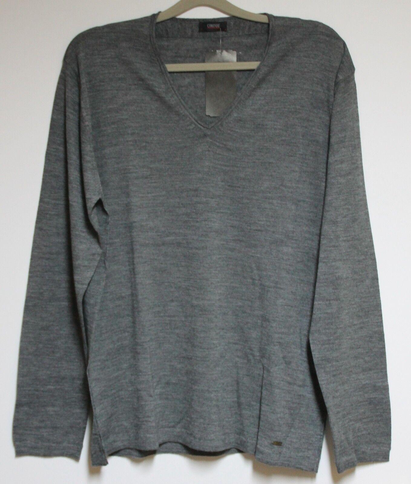 CINQUE Strick Pullover Cirieti Herren in Grau  Größe XL  Neu mit Etikett