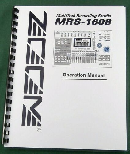 Zoom MRS-1608 Operation Manual: 224 Pages & Protective Covers!