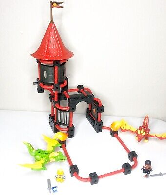 Fisher Price TRIO Dragon Battle Arena Building Set Mini Figures Dragons Complete