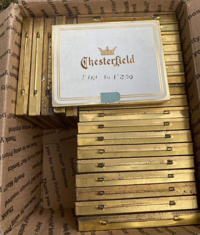 CHESTERFIELD CIGARETTE TIN LOT 24 TOBACCO TINS VINTAGE