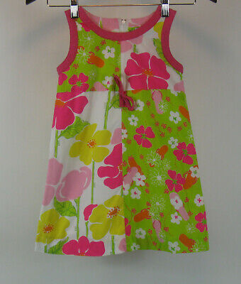 Lilly Pulitzer Girls Size 5 Floral Shift Dress Sleeveless