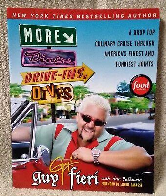 More Diners Drive Ins   Dives Cookbook Guy Fieri Ann Volkwein 2009 Paperback Euc