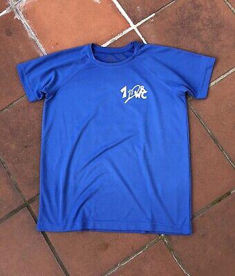 Hanes Trikot Sporttrikot Sportshirt Gr. 158 164 blau Sport T-Shirt Badminton, gebraucht gebraucht kaufen  Wiesbaden
