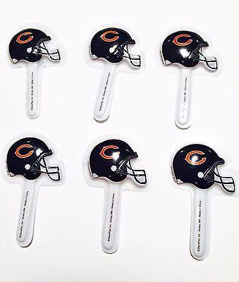 Chicago Bears Football Helmets Cupcake Cake Appetizer Picks Lot of 6