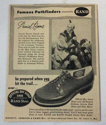1956 Rand Shoes ad ~ DANIEL BOONE