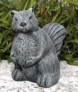 sculpture en pierre cureuil figurine d corative de jardin d 39 animal fonte ebay. Black Bedroom Furniture Sets. Home Design Ideas