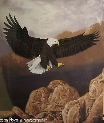 American Bald Eagle Hunting Lodge Rustic Cabin Raschel Throw Blanket 50x60  for sale  Philadelphia
