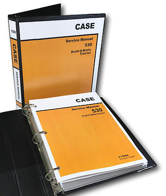 Case 530 Draft-o-matic Tractor Service Manual Technical Shop Book Overhaul